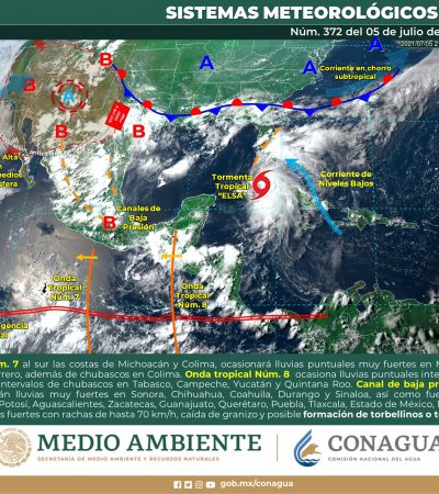 Onda tropical 8 provocaría lluvias