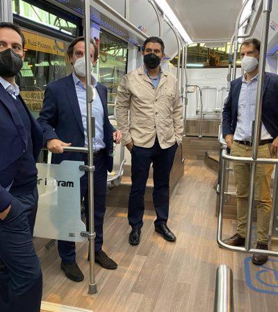 El Gobernador Mauricio Vila Dosal acude a Zaragoza, España para conocer sobre las mejores prácticas en materia de transporte
